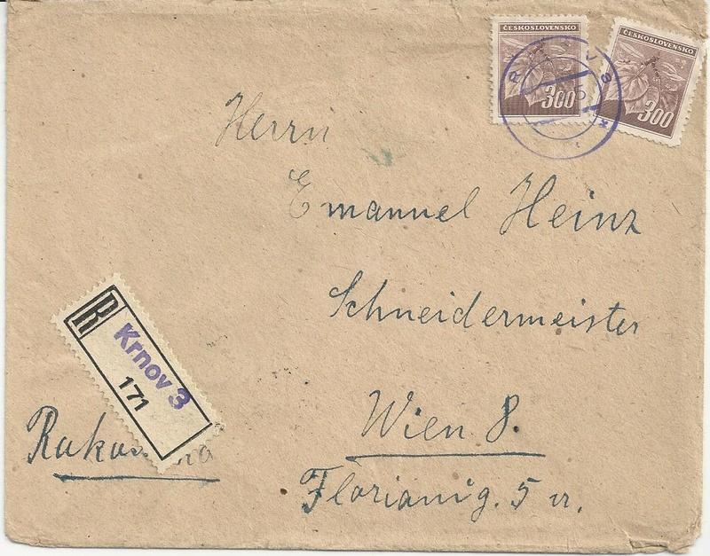 Wappenzeichnung  -  ANK 714-736 - Belege - Seite 4 Bild70