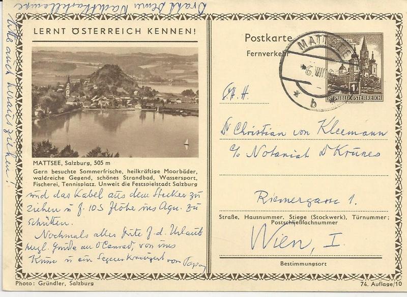 Bildpostkarten 2. Republik - Besonderheiten Bild_318