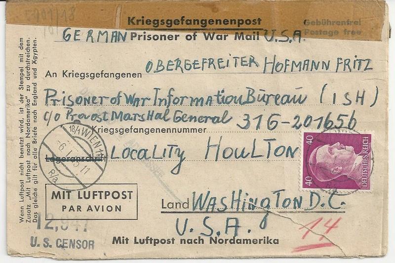 Kriegsgefangenenpost II. Weltkrieg (Österreich) Bild_418