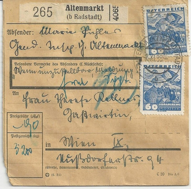 Österreich im III. Reich (Ostmark) Belege - Seite 9 Bild_610
