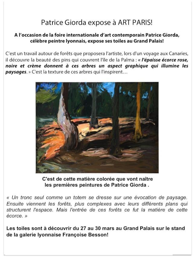 Le peintre lyonnais Patrice Giorda expose ses toiles au Grand Palais ! Patric11