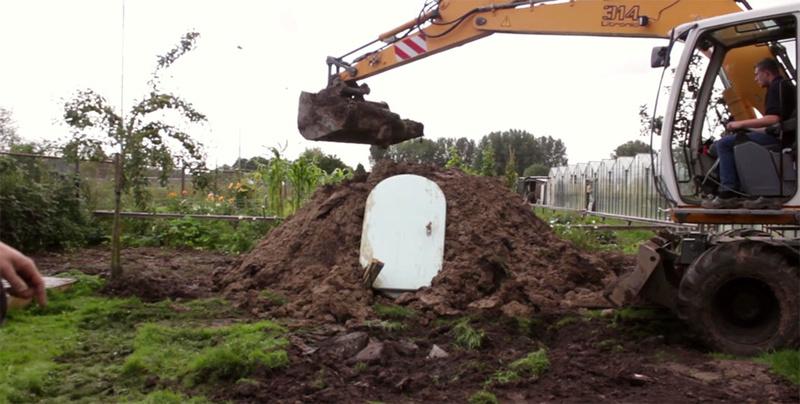 Pays-Bas : il invente un frigo souterrain qui fonctionne sans électricité Captww16