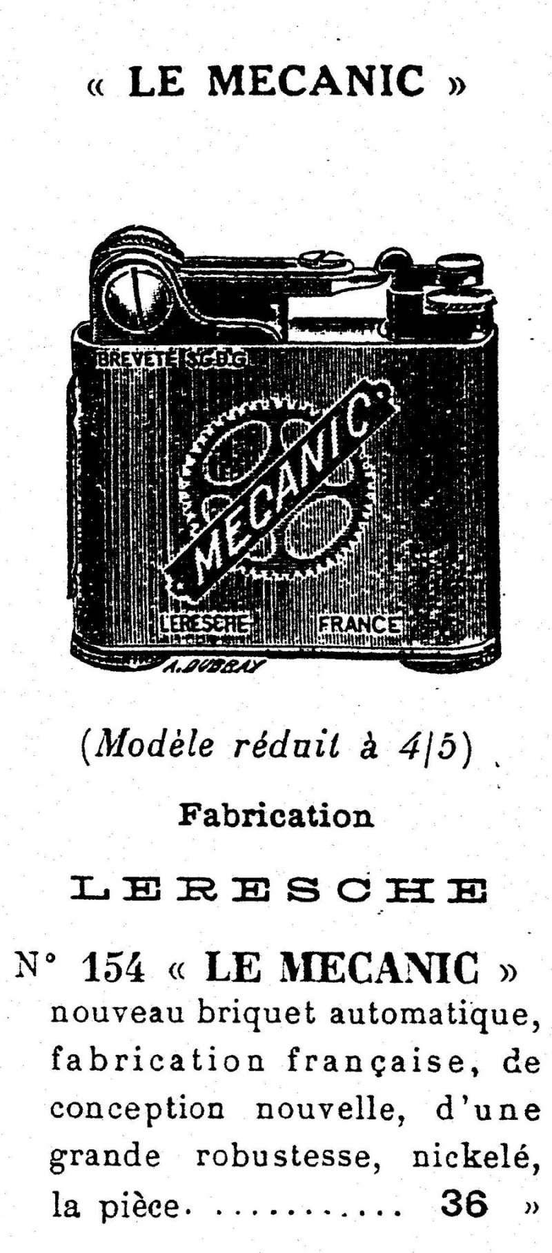 briquet automatique à essence LERESCHE 12292010
