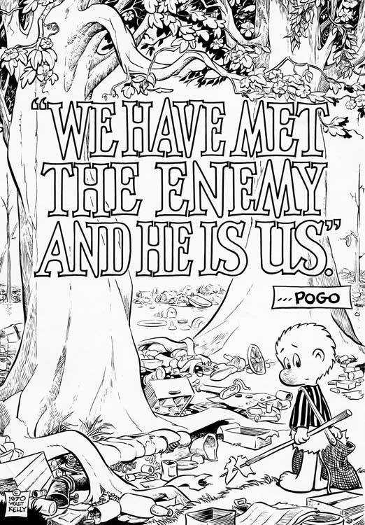 Walt Kelly, Pogo, First Earth Day Poster, 1970 Pogo_m10