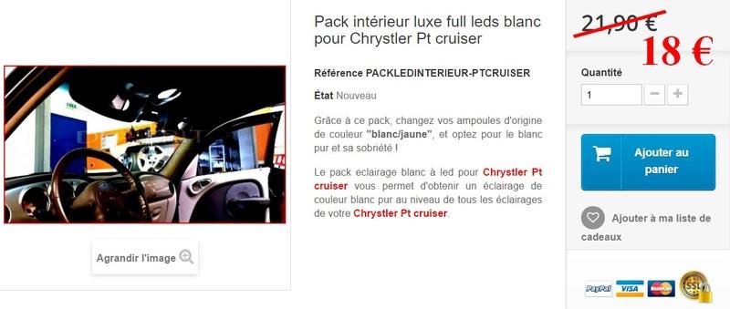 Commande groupé équipement Led Pt Cruiser  Pack_i11