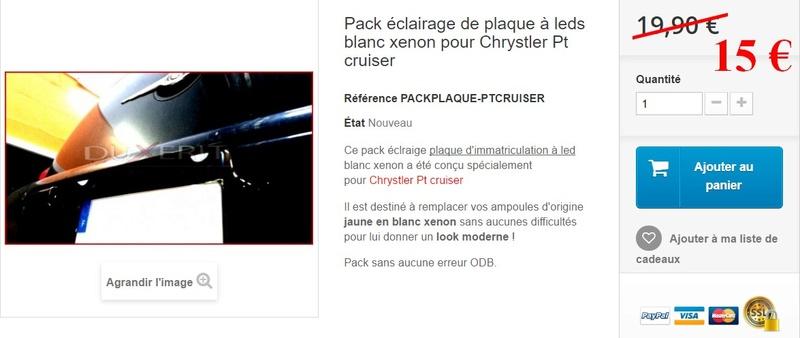 Kits Leds pour PT Cruiser Plaque11