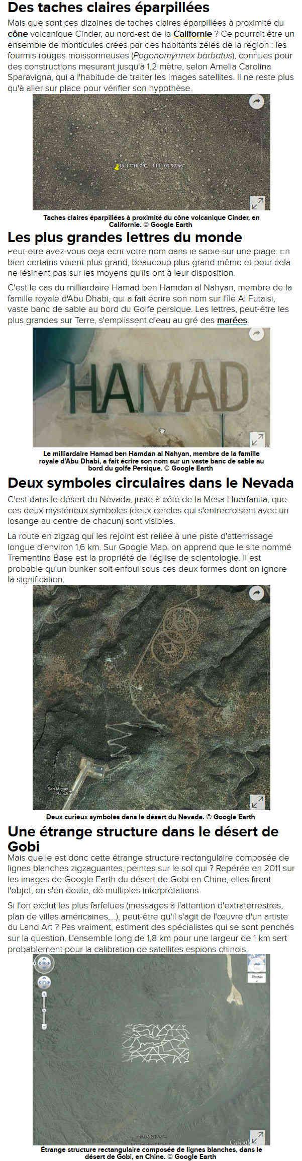 FUTURA Actu et Google Earth 7710