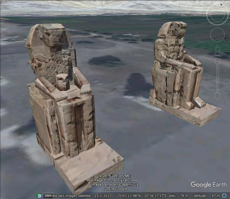 Les colosses de Memnon - Égypte Ggg10