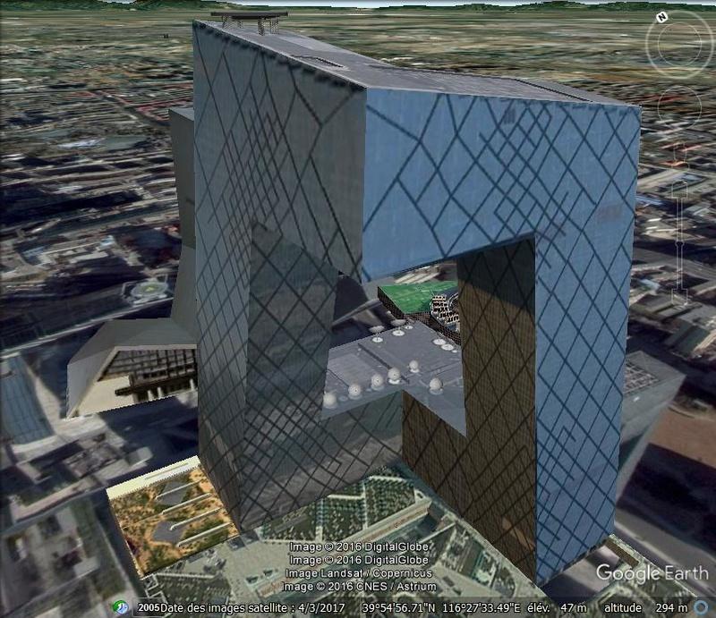 CCTV Headquarters, défi architectural - Pekin - Chine Plo10