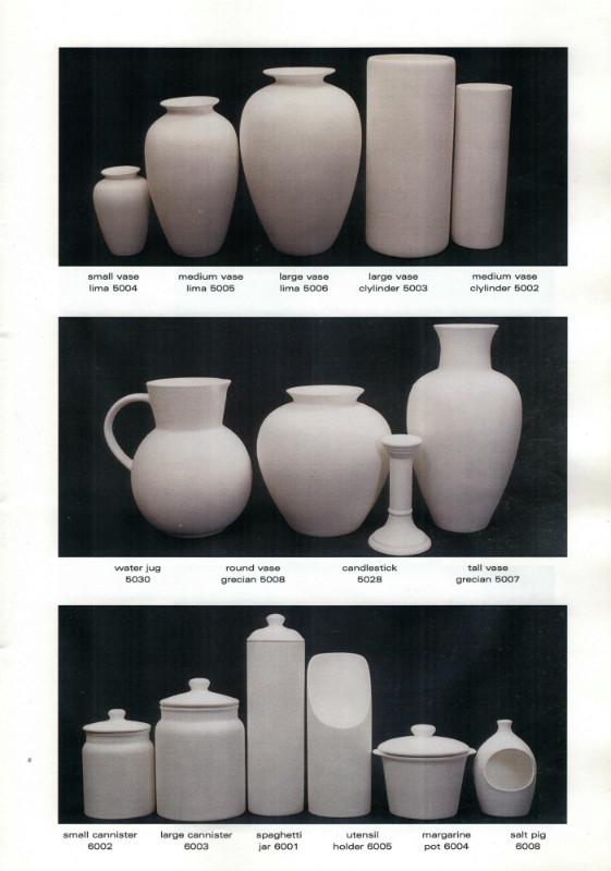 Studio Ceramics Ltd Shape numbers (2001 catalogue)  2001_s13