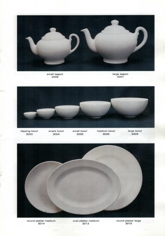Studio Ceramics Ltd Shape numbers (2001 catalogue)  2001_s14