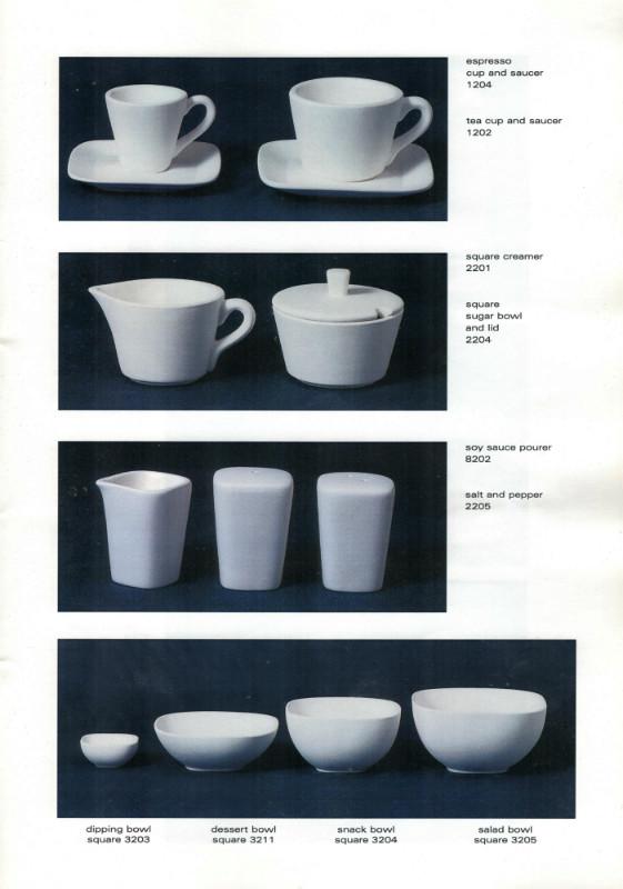 Studio Ceramics Ltd Shape numbers (2001 catalogue)  2001_s17