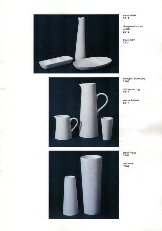Studio Ceramics Ltd Shape numbers (2001 catalogue)  2001_s18