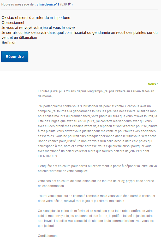 Encore une arnaque ebay/paypal à la niçoise - Page 2 Discus10