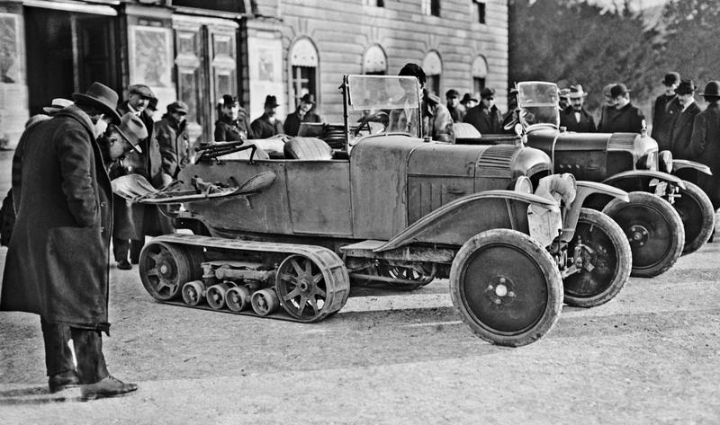 Concours de voitures à neige au Col du Sappey le 9 Février 1922 Citroe10