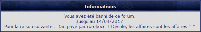 [RESOLU] acces au forum impossible Banniy10