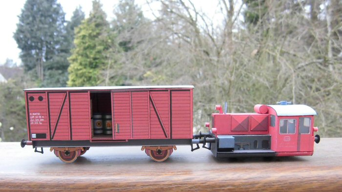 Köf II und Güterwagen von Albrecht Pirling Image110
