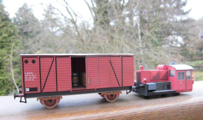 Köf II und Güterwagen von Albrecht Pirling Image210