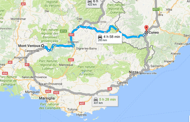 22-23-24-25 LUGLIO 2017  tour del Verdon, Luberon, Mont Ventoux, Ardeche Camargue Andata10