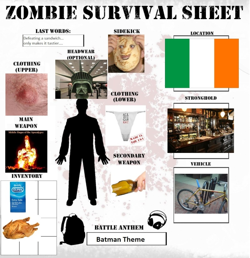 Your Zombie Apocalypse Survival Sheet ! Surviv11