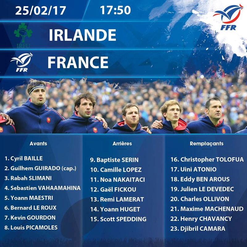 Ireland v France, Saturday, February 25  Fraire10