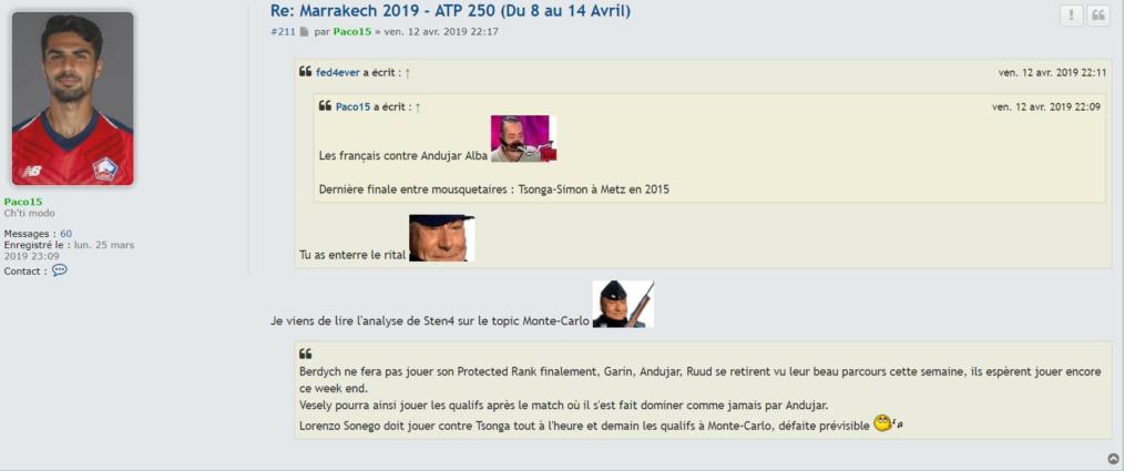 Marrakech- GP HassanII - 8-14 avril . Terre battue - Page 4 Captur10