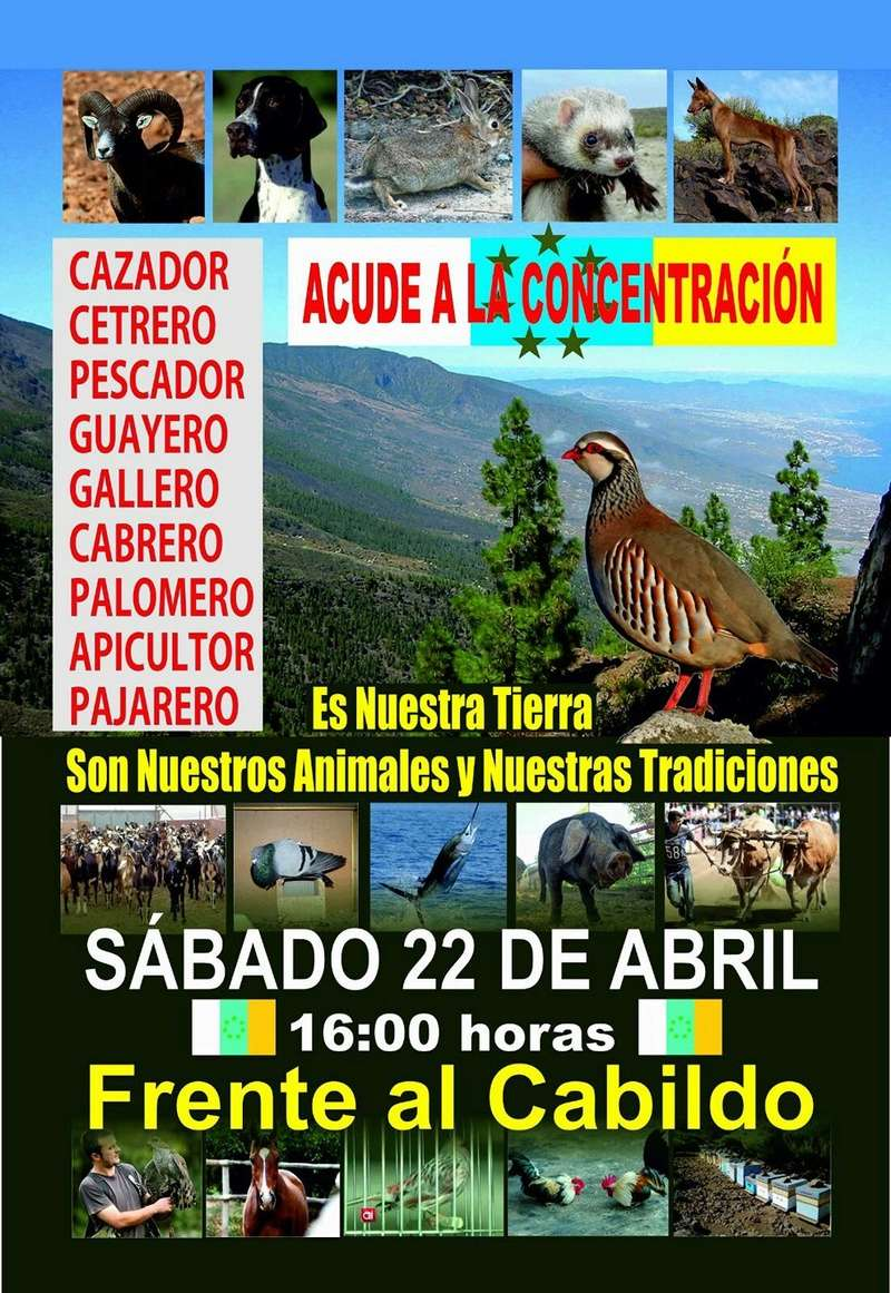Concentracion de criadores de animales frente al Cabildo de Tenerife 18055610