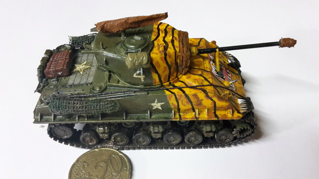 SHERMAN M4A3E8 Korean war  -  Trumpeter 1/72 20-02-16
