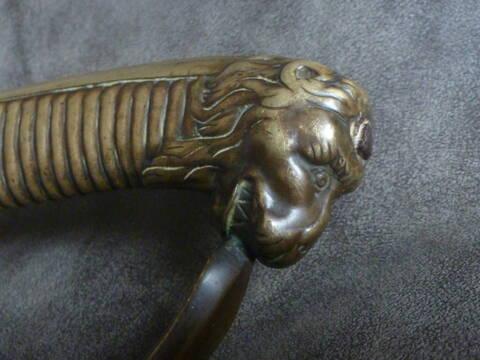 Sabres en tête de lion: art perdu? P1190810
