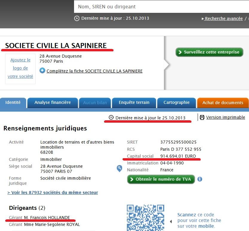 """Malgré son déni, PREUVE que Hollande gère toujours """"La Sapinière"""" au capital de 914.694 € La_sap13"""