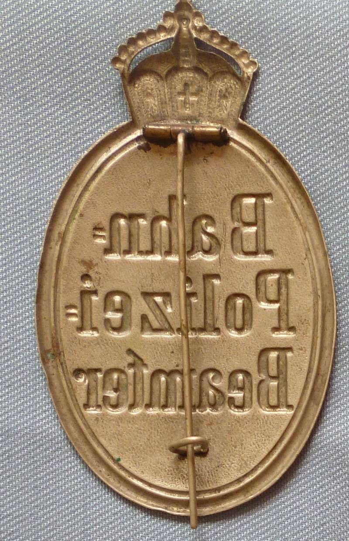 Badge police allemande début XX° Allpol11