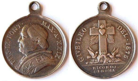 Medallas papa nº 255 Pio IX 1875_p10