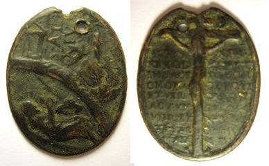 alejo - San Alejo / Cristo crucificado y leyenda - s. XVII-XVIII Alejo_10