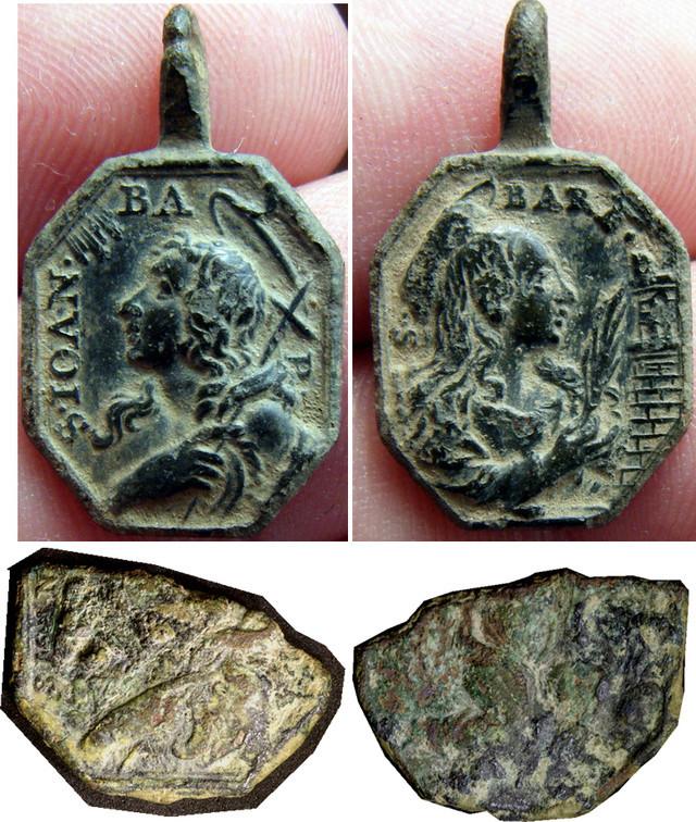 Medalla de S. Juan Bautista / Sta. Bárbara ? Bautis10