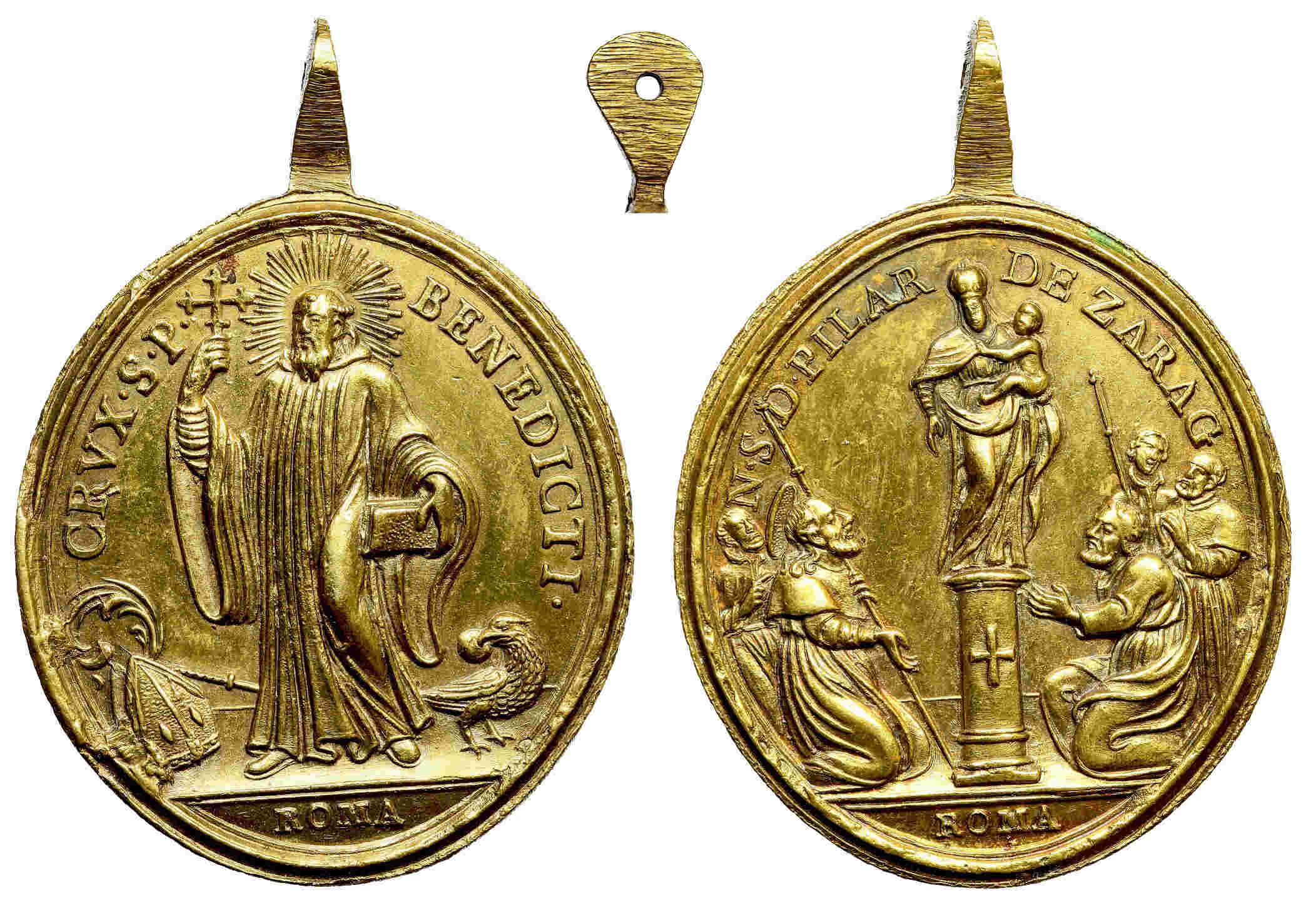 San Benito / Virgen del Pilar (R.M. SXVIII-O335)(MAM) Benito10