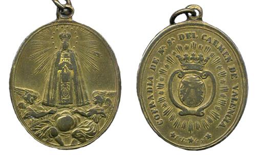Medalla ventana calada Virgen ¿Advocación? Carmen12