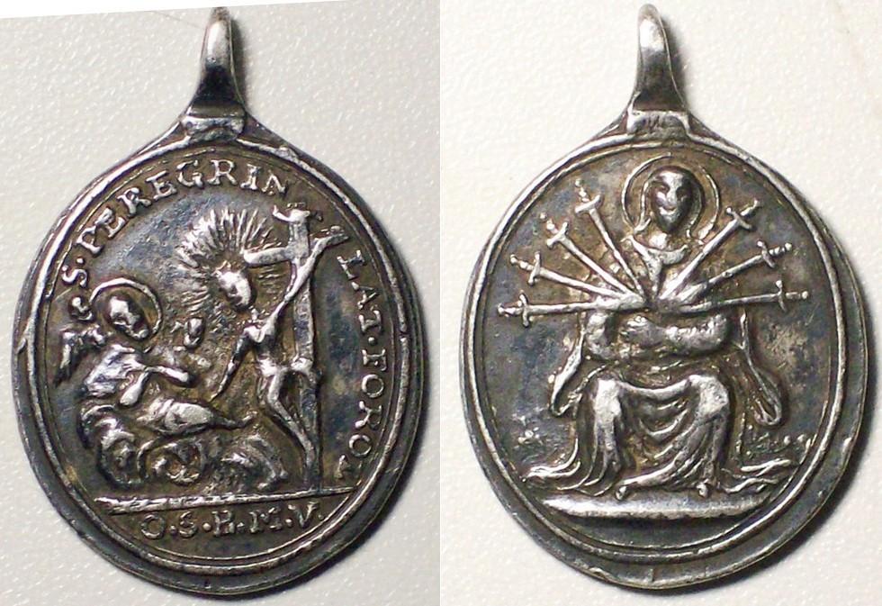 Dolorosa siete espadas/San Pelegrino Laziosi S-XVIII Peregr10