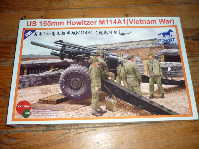 US 155mm howitzer M114A1 BRONCO 1:35 P1080214
