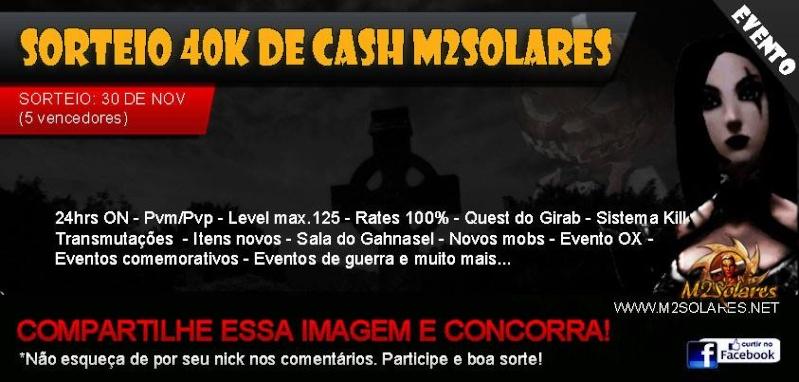 Sorteio de 40 k de cash M2Solares 13828510