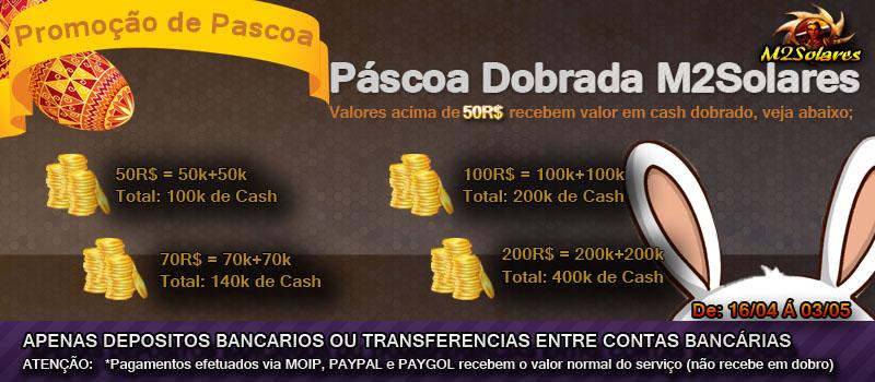 [PROMOÇÃO PASCOA DOBRADA] CASH EM DOBRO Cashdo10