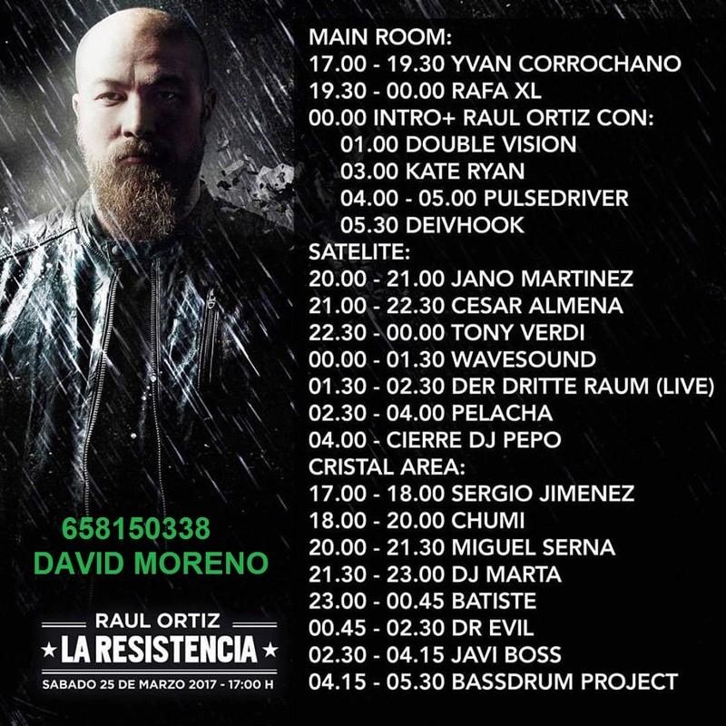 25.03.17 #LARESISTENCIA EN #FABRIK - MADRID ENTRADA ANTICIPADA 658150338 DAVID  Horari10