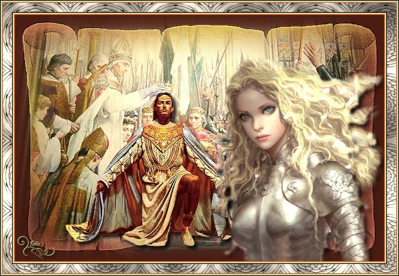 le roi de France Charles VII et Jeanne d'arc Arc10