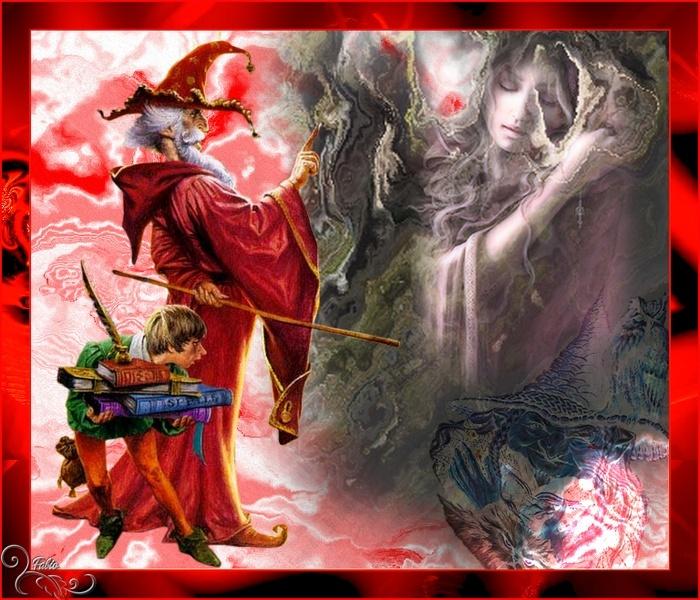 Merlin et son lutin scribe  Fantas15