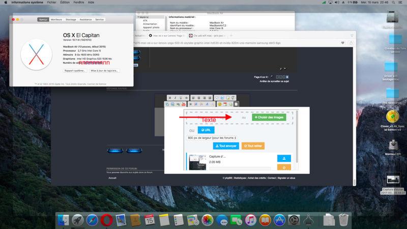 (Résolu)-mac os x sur Lenovo Yoga 500 i5 skylake Graphic Intel HD520 et nVidia 920M une mémoire samsung DDR3 8go - Page 4 Captur14