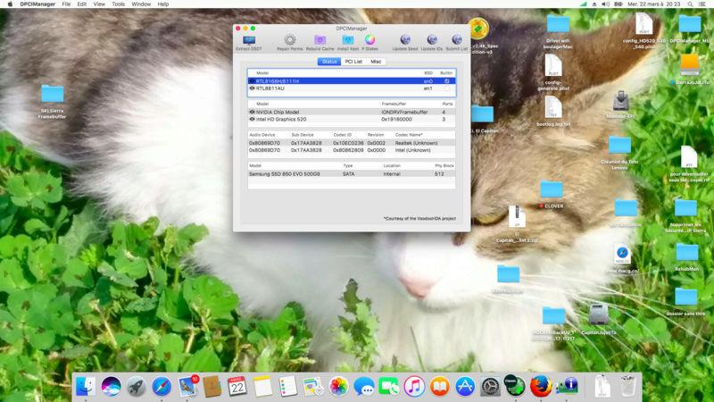 (Résolu)-mac os x sur Lenovo Yoga 500 i5 skylake Graphic Intel HD520 et nVidia 920M une mémoire samsung DDR3 8go - Page 5 Captur18