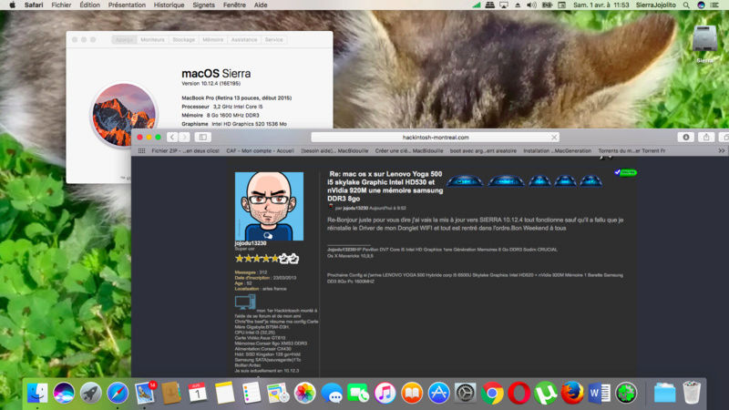 (Résolu)-mac os x sur Lenovo Yoga 500 i5 skylake Graphic Intel HD520 et nVidia 920M une mémoire samsung DDR3 8go - Page 6 Captur21