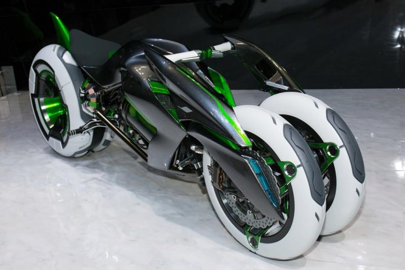 Une moto à quatre roues à court terme chez Kawasaki Concep10
