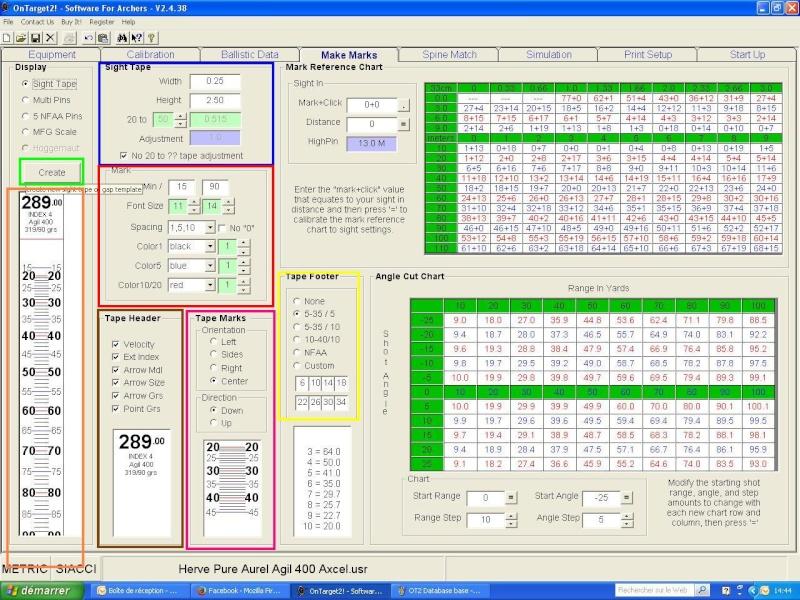 """OT2 """"pour les nuls"""", tutoriel du logiciel On Target 2 (SFA) Made_m10"""