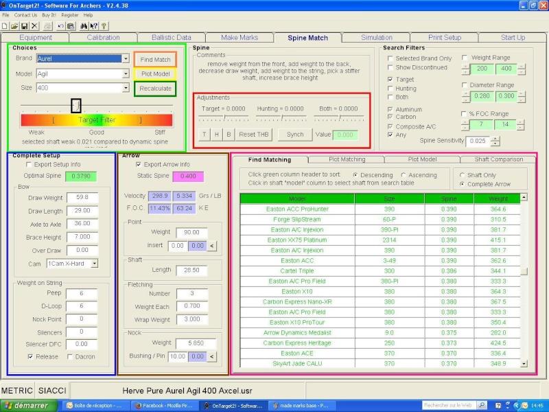 """OT2 """"pour les nuls"""", tutoriel du logiciel On Target 2 (SFA) Spine_10"""