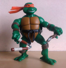 Michelangelo e Donatello in blister, serie 2003 Tartarughe Ninja, Turtles, TMNT. no MOTU no CdZ no J.I. Joe no combattini                                                                                        M4aruu10